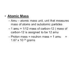 Image result for atomic mass unit
