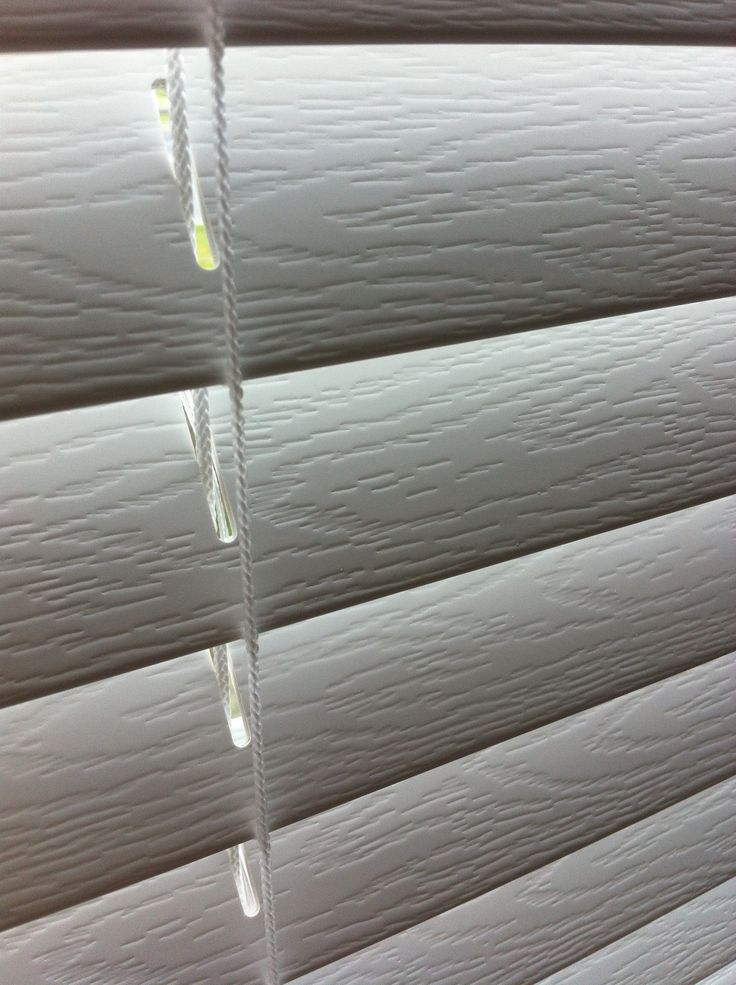 White Embossed Woodvision Venetians for all areas of the home – get your custom online Quote at blindsonline.net.nz