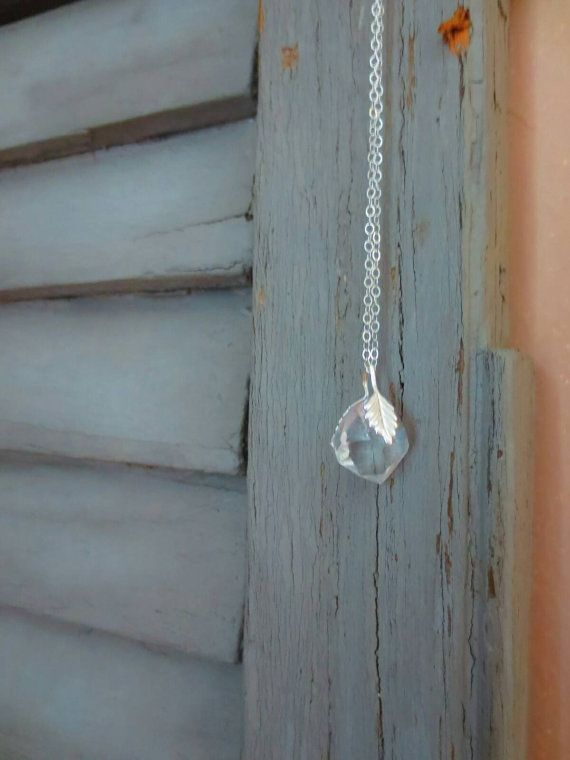 Herkiemer diamond pendant necklace with silver by StoneandSwan