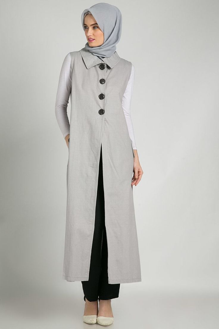 Button Outwear Light Grey