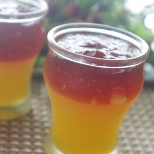 オレンジと紅茶の2段ゼリー+by+m's+tableさん+|+レシピブログ+-+料理ブログのレシピ満載! 暑い夏に見た目にも涼しげな2段ゼリー オレンジとクラッシュさせた紅茶の組み合わせ