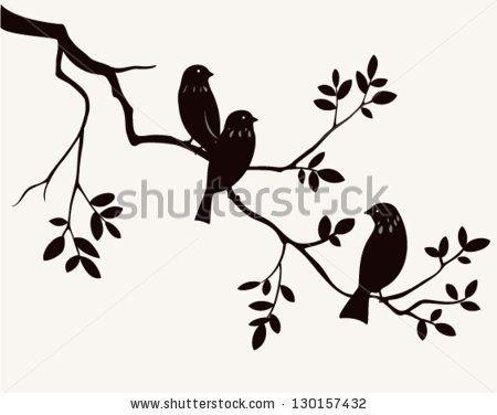 Birds on twig