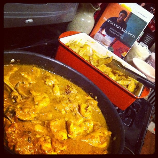 West Indian Curry Chicken for tomorrow's Midnight Brunch, taught to me by an attractive Jamaican man named Omarr McDonald. by Emily Cavalier, via Flickr