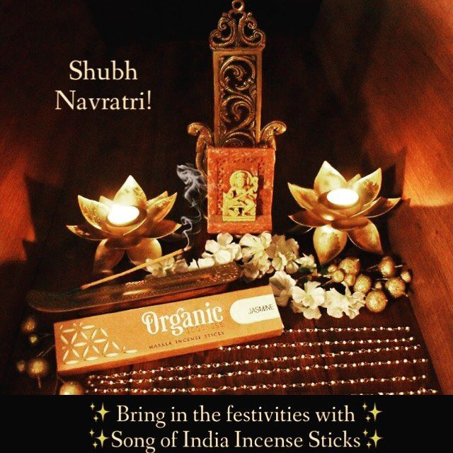 Bring in the festivities with Song of India Incense Sticks  Happy Navratri!  #songofindia #scentedgoodness #organic #incense #incensesticks #dlfmallofindia #beautifulthings #natural #homefragrance #fragrantproducts #aromatherapy #meditation #yoga #prayer #indianculture #navratri #festival #feative #perfume #essentialoils #fragrance #handmade #jasmine #madewithlove