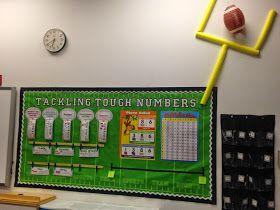 Diary of a Not So Wimpy Teacher: Math bulletin board in a sports theme classroom