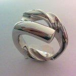 Ring-shaped tip of 8 mm diameter drill in silver. | Trampos