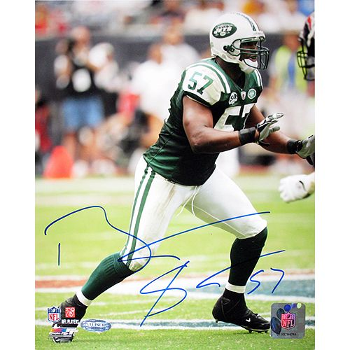 Steiner Bart Scott Jets Green Jersey Vertical 8x10 Photo