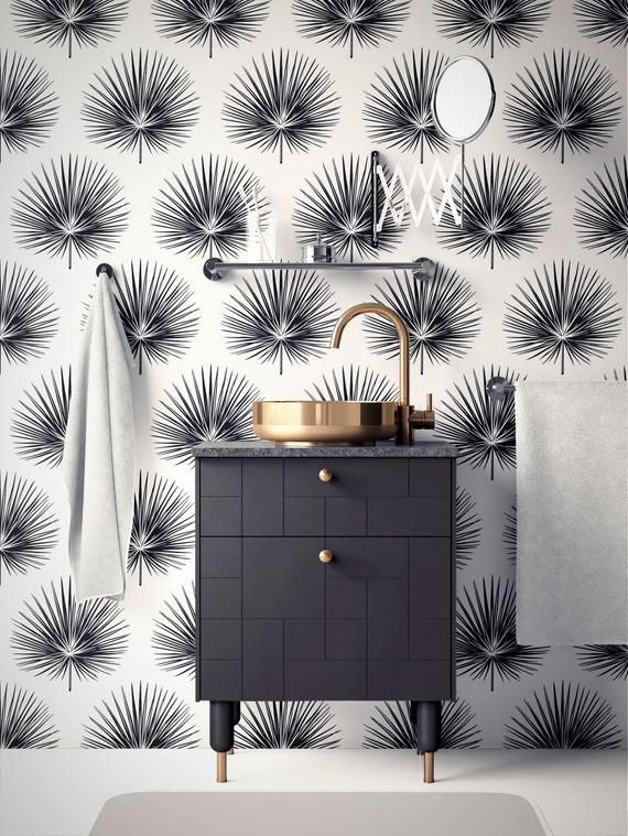 Tropical Removable Wallpaper Modern Wallpaper Design Peel Etsy Modern Wallpaper Designs Removable Wallpaper Modern Wallpaper
