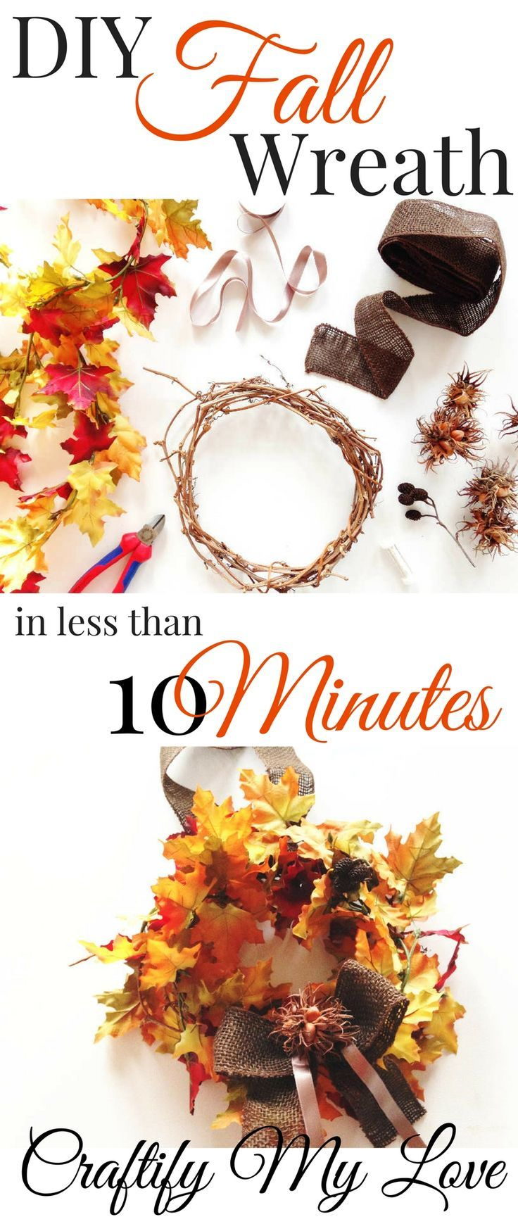 The Easiest Fall Leaves Wreath, Ever! + $300 Cash for Christmas Giveaway