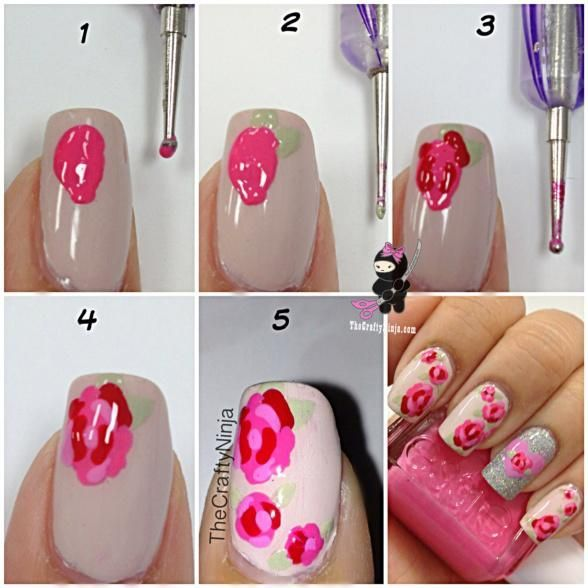 The 25 best rose nails tutorial ideas on pinterest diy rose diy pretty rose nails diy nails art prinsesfo Gallery