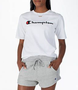 3fa237690 White. Women s Champion Heritage HBR T-Shirt Champion Clothing
