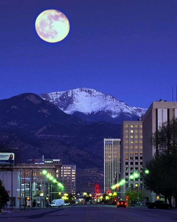 The Renaissance Denver Downtown At The Colorado National: Down Town Colorado Springs With Pikes Peak In The