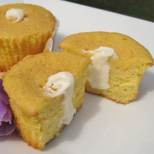 "Copycat Hostess Twinkies: ""Instead of a loaf pan, I made these in mini loaf pans and muffin tins then filled the Twinkies using a pastry bag."" -Lynn in MA"