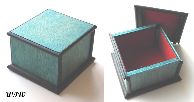 Black & Blue Puzzle Box  Designed & Made by W.Ware