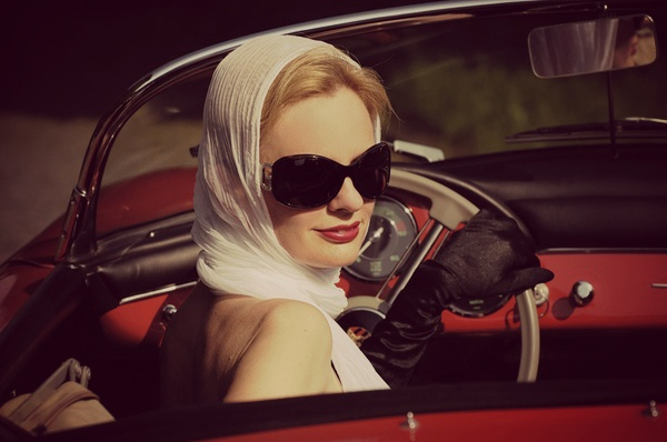 Ride In A Convertible Wearing A Scarf Over My Hair