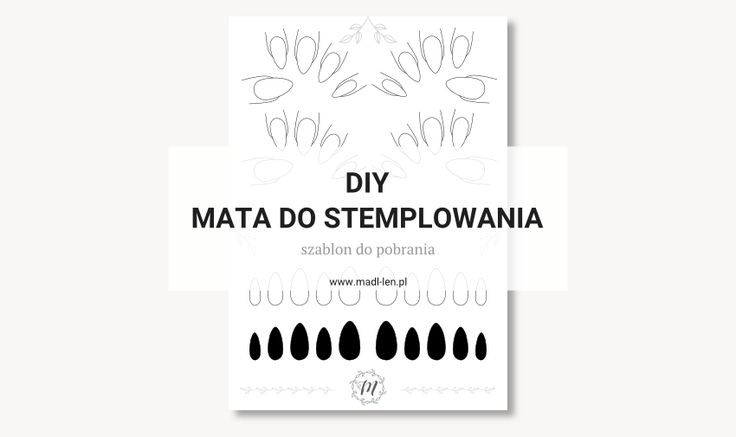 DIY mata do stemplowania - szablon do pobrania za darmo. DIY stamping mat - template for free download.