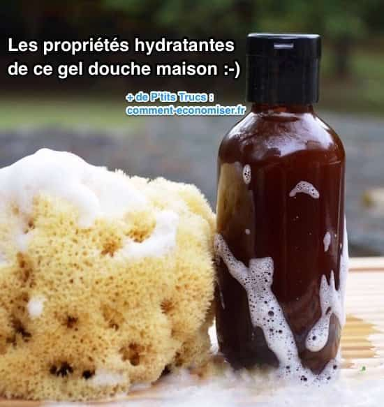 Liste ingrédients hydratants de ce gel douche maison                                                                                                                                                                                 Plus