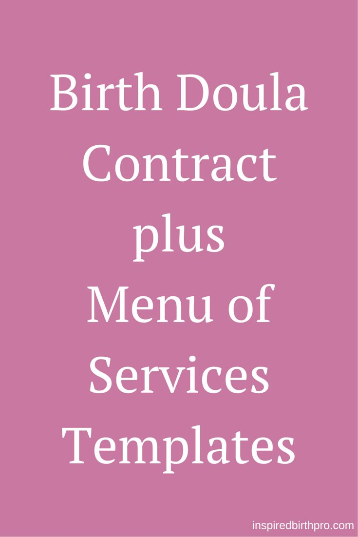 Birth Doula Contract Template | www.inspiredbirthpro.com