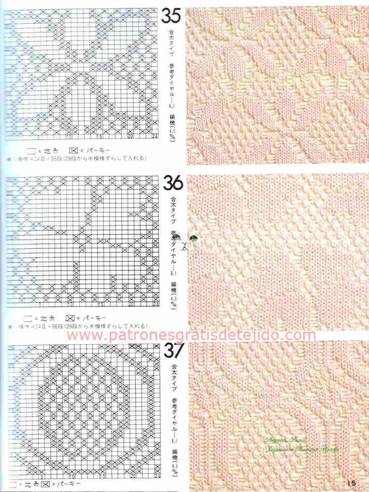 Cuarenta patrones de puntadas de tejido a dos agujas | DZIANINA I ...
