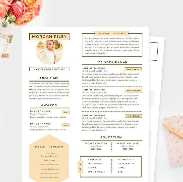 Sunrise Resume Template - www.JannaLynnCreative.com - Feminine & Professional Microsoft Word Resume Templates & Design Resources