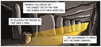 Stone Calendars - Inside Bryn Celli Ddu; panel from the last of my Anglesey comics