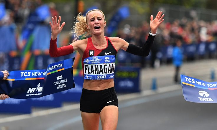 Shalane Flanagan becomes first US woman to win New York marathon since 1977 | Sport | The Guardian