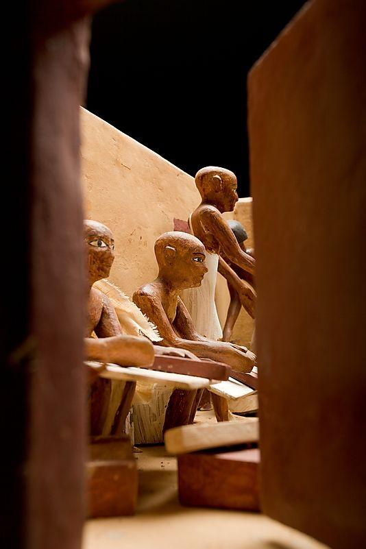 :::: PINTEREST.COM christiancross ::::  Model Granary from the Tomb of Meketre - ca. 1981–1975 B.C.
