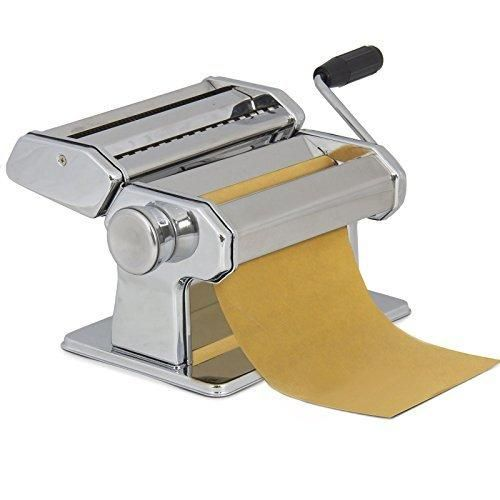 Pasta Maker Roller Machine 7inches Dough Making Fresh Noodle Maker Stainless Steel