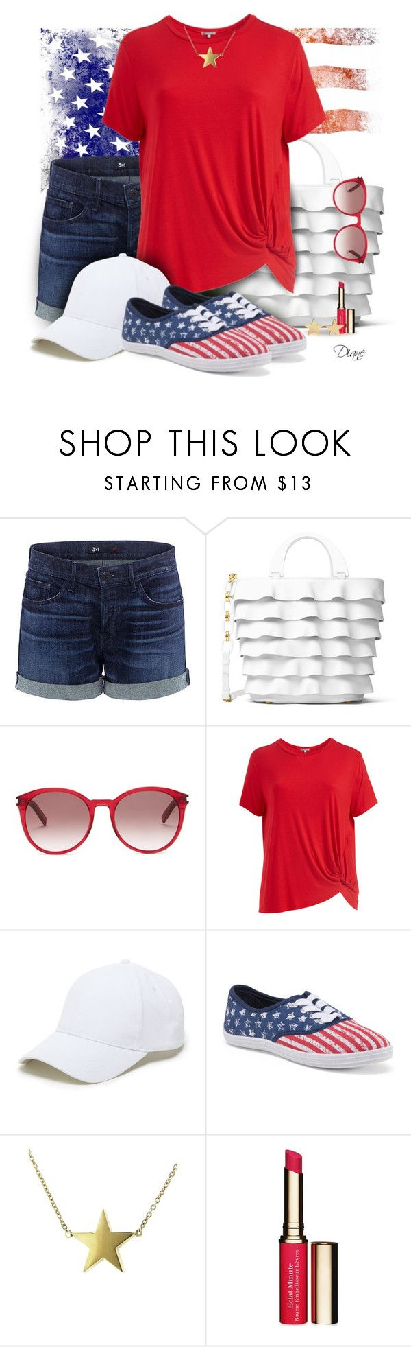 """Shorts Set"" by diane-hansen ❤ liked on Polyvore featuring 3x1, Michael Kors, Yves Saint Laurent, Abito, Sole Society, Jennifer Meyer Jewelry, Clarins and plus size clothing"