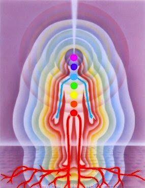 """Ez egy nagyon egyszerű vizualizációs technika, amelyet jó elvégezni bármely meditáció elején. Az a célja, hogy mozgásba hozza energiánkat, megszüntesse az energiaáramlás akadályait, és a fizikai világhoz kapcsolva tartson minket, nehogy """"elszánjunk"""" meditáció közben./ A földhöz rögzítés és az energia áramoltatása ~ fényörvény, spirituális tanítások, spiritualitás, teremtés, teremtő képzelet, tudatos teremtés, vizualizáció, Shakti Gawain, földhöz kötés, leföldelés, meditáció,"""