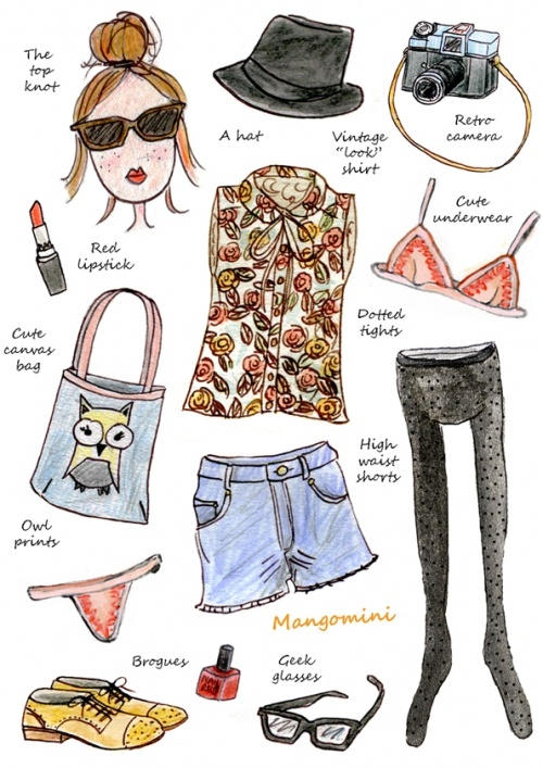 Hehe hipster style. This pretty much sums up how i'm dressing this saturday