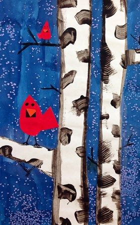 Cardinal in Winter Collage~  Check out a whole gallery of similar designs.  Stunning!