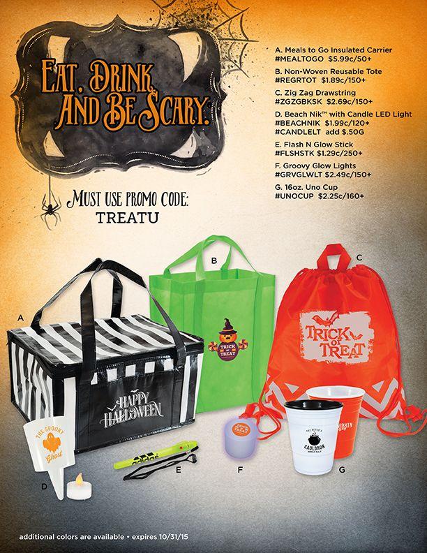 Halloween Promotional Items Food to go, Glow sticks
