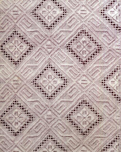 ukrainian folk embroidery: Whitework area design from Chernyhiw