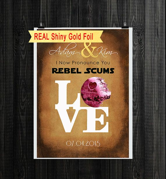 Personalized Star Wars Wedding Anniversary Gift Ideas For Couples Wall Art Office Decor Very Unique And Funny