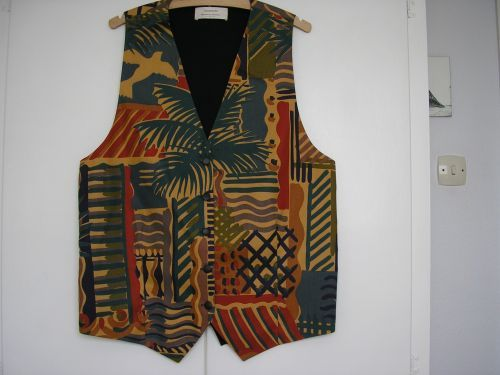 "Ladies Long Waistcoat Liberty  ""Cote D'Azur"" fabric 345"" - 36"" THIS WAISTCOAT HAS BEEN SOLD"