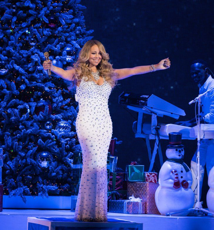 Pin for Later: Mariah Carey Transforms Into a Human Snowflake at Her Holiday Concert