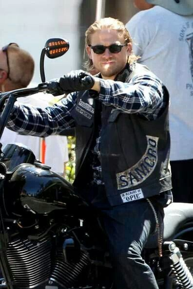 Sons of anarchy Jax...hottest thing on a bike. :)