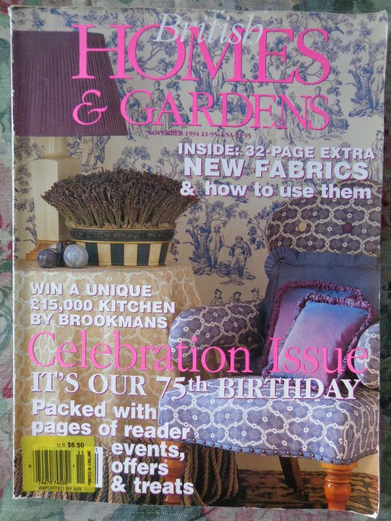 British Homes And Gardens Vintage Magazine November By Frstyfrolk