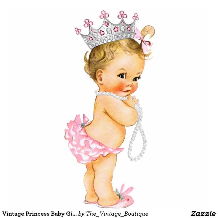 Vintage Princess Baby Girl Standing Photo Sculpture