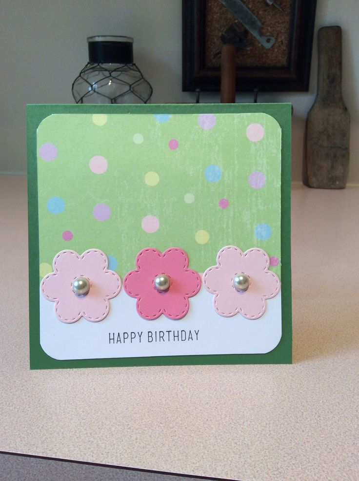 Simple birthday card. Die was a free gift with Simply Cards and Papercraft magazine