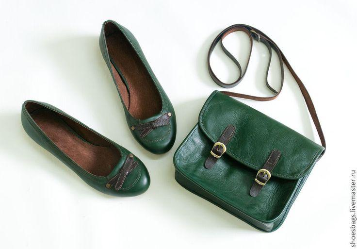 """Купить Сумочка """"Green Day"""" - сумочка через плечо, яркая сумка, сумка из натуральной кожи"""