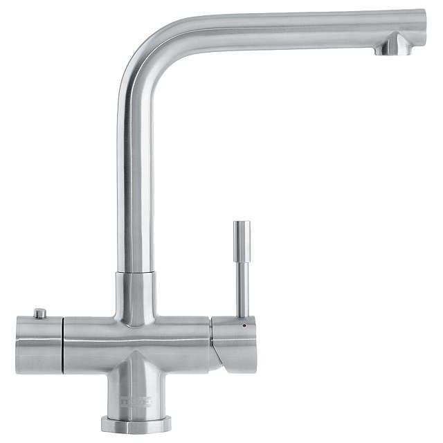Franke Minerva 1 Lever Mondial 3-in-1 Kitchen Tap, Stainless Steel at John Lewis