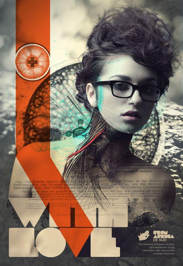 With Love by Aldo Pulella, via BehanceGraphic Design, Design Inspiration, Fashion Style, Graphicdesign, Posters Design, Graphics Design, Behance Network, Aldo Pulella, Design Posters