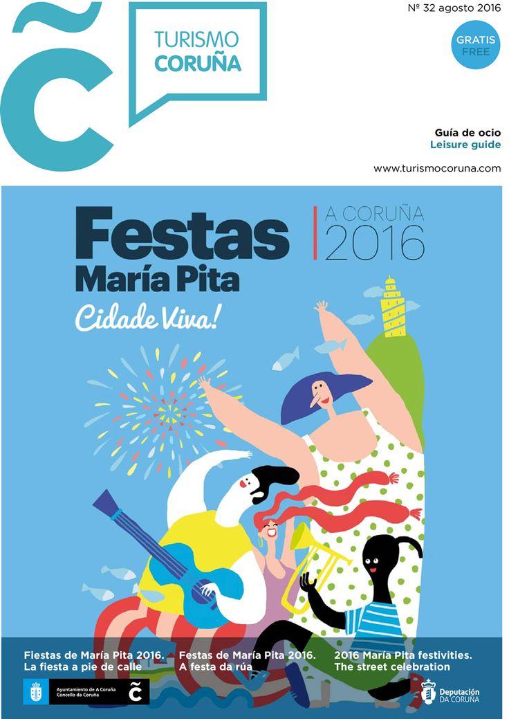Descárgate la guía de ocio del mes de agosto con toda la programación de las fiestas de #MaríaPita16 #fiestas #agosto #verano #Noroeste16 #ViñetasdesdeoAtlántico