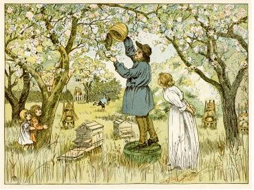 Telling The Bees.Until the late 19th century, beekeeping was almost exclusively a family affair.  It was common for households to keep at least two or three hives, and bees were considered valuable members of the family.