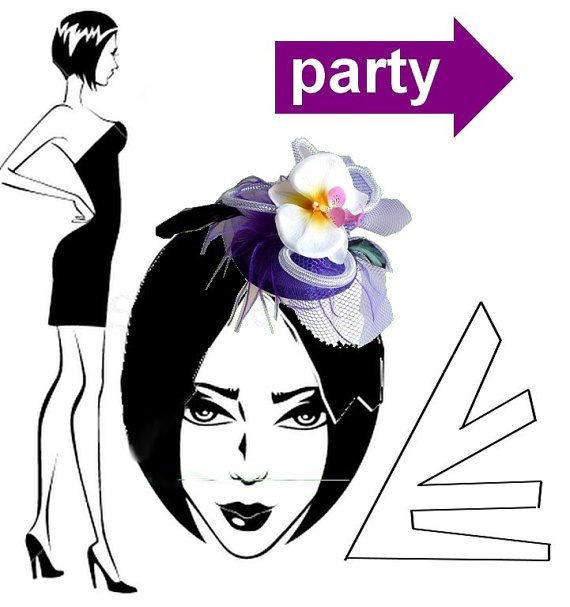 Party fascinator by wandadesign on Etsy, €29.00