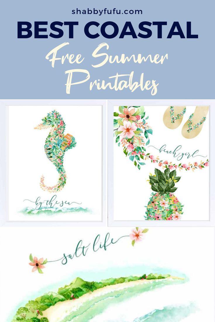 Summer Beach Coastal Printables Summer Printables Free Summer