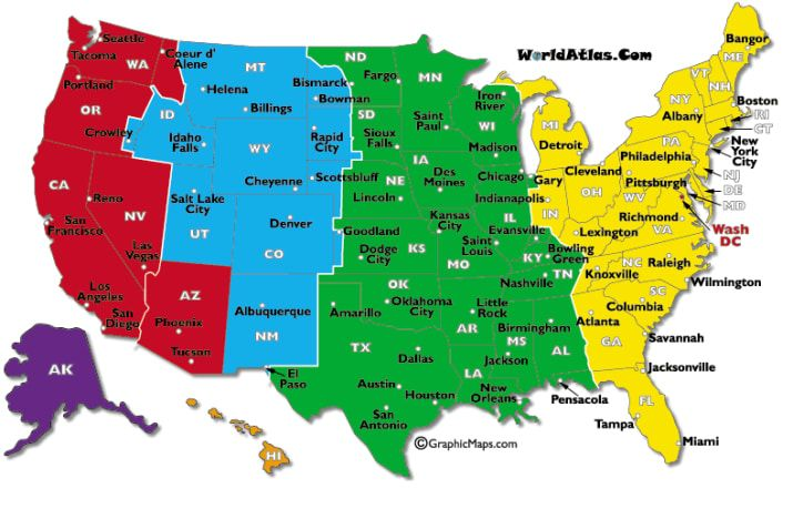 United States Map with Capitals | US States and Capitals Map