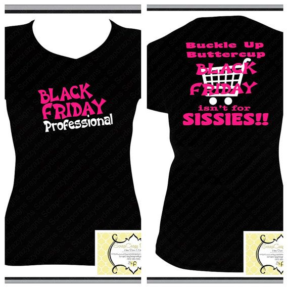 Black Friday TShirt by ScrapCrazyDesigns on Etsy, $21.00